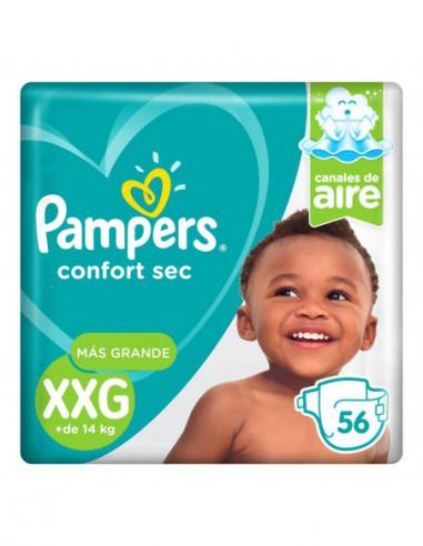 Pampers Confort Sec XXG 56 Unidades