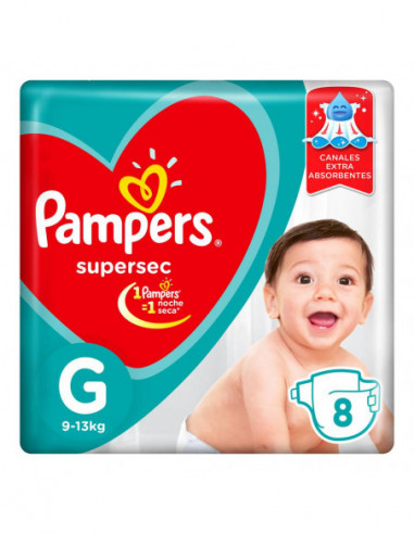Pampers SuperSec Pañales Desechables...