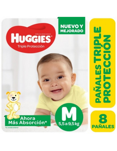 HUGGIES CLASSIC PAÑAL REGULAR  M